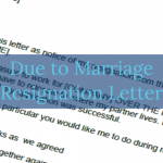 Due to Marriage Resignation Letter Example