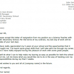 Teachers Resignation Letter Example