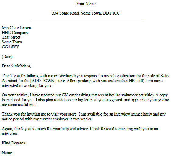 Follow Up To Telephone Call Letter Example