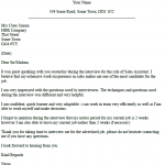 Job Interview Thank You Email Example