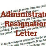 Administrator Resignation Letter Example