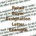 Retail Buyer Resignation Letter Example