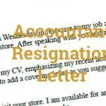 Accountant Resignation Letter Example