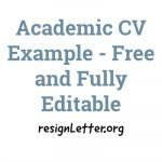Academic CV Example - Free and Fully Editable