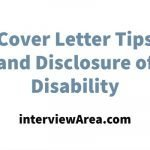 Cover Letter Tips and Disclosure of Disability