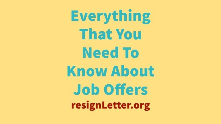 Everything That You Need To Know About Job Offers