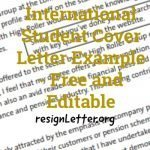 International Student Cover Letter Example - Free and Editable