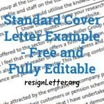 Standard Cover Letter Example - Free and Fully Editable